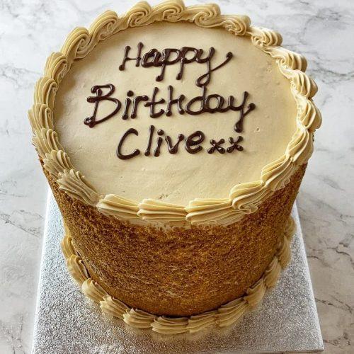 Coffee & walnut cake St Albans Hertfordshire birthday cake