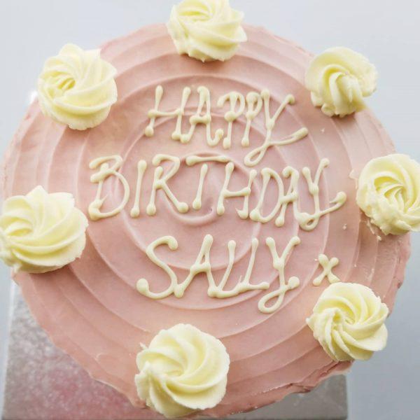 Carrot cake drip cake pink