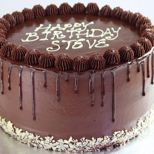 Chocolate fudge cake drip design