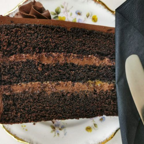 gluten & dairy free chocolate fudge cake